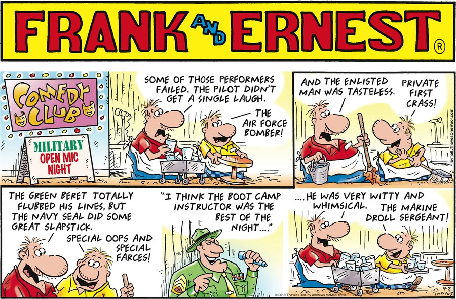 Frank and Ernest Comic Strip for September 02, 2018