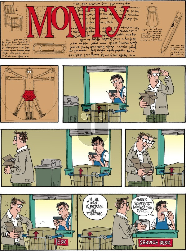 Monty on December 2, 2018 Comic Strip