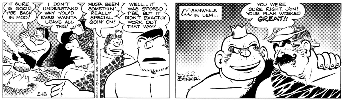 Alley Oop for Feb 18, 2005 Comic Strip