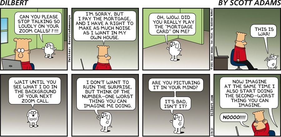 Loud Using Zoom - Dilbert by Scott Adams