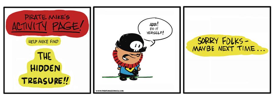 Pirate Mike Comic Strip for April 04, 2019
