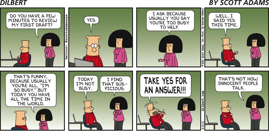 Tina Asks For Help - Dilbert by Scott Adams