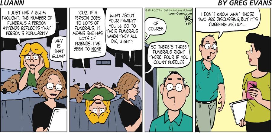 Luann Comic Strip for August 25, 2019
