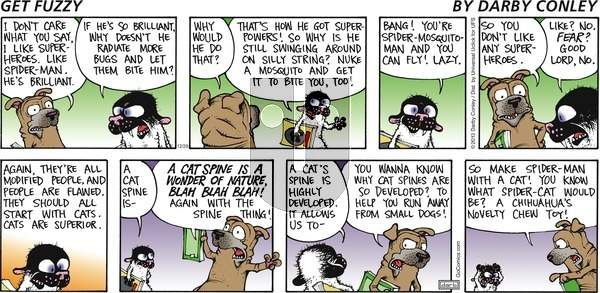 Get Fuzzy on Sunday December 29, 2013 Comic Strip