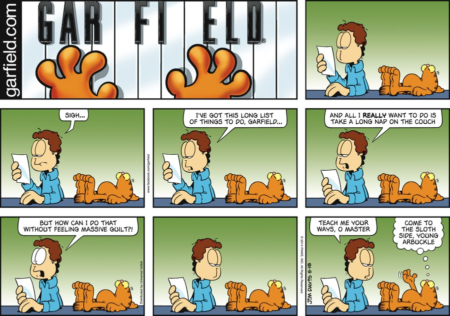 Garfield Comic Strip for May 18, 2014