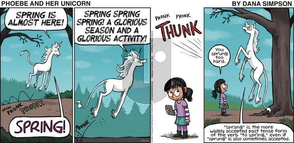 Phoebe and Her Unicorn on Sunday March 8, 2020 Comic Strip