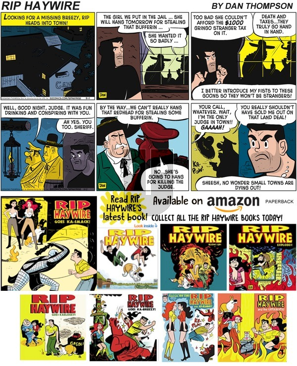 Rip Haywire on Sunday November 3, 2019 Comic Strip
