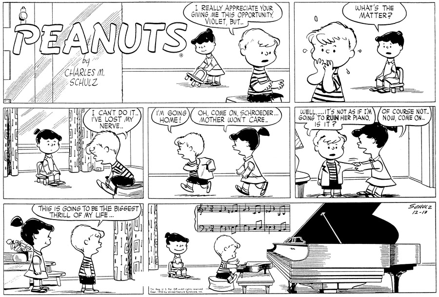 Peanuts Comic Strip for December 13, 1953