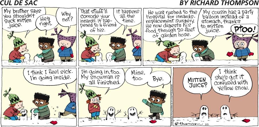Cul de Sac for Feb 3, 2008 Comic Strip