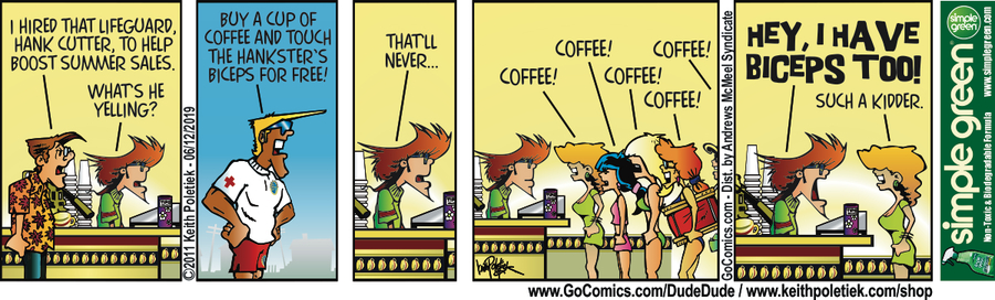 Dude and Dude Comic Strip for June 12, 2019