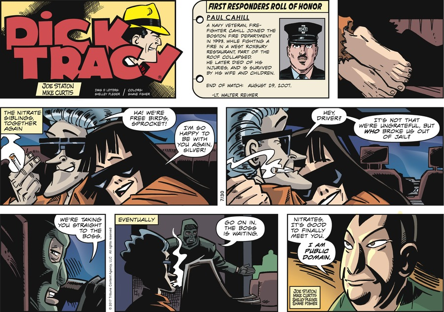 Dick Tracy Comic Strip for July 30, 2017