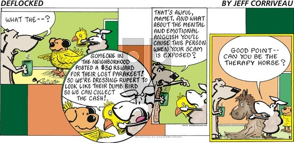 DeFlocked on Sunday October 25, 2020 Comic Strip