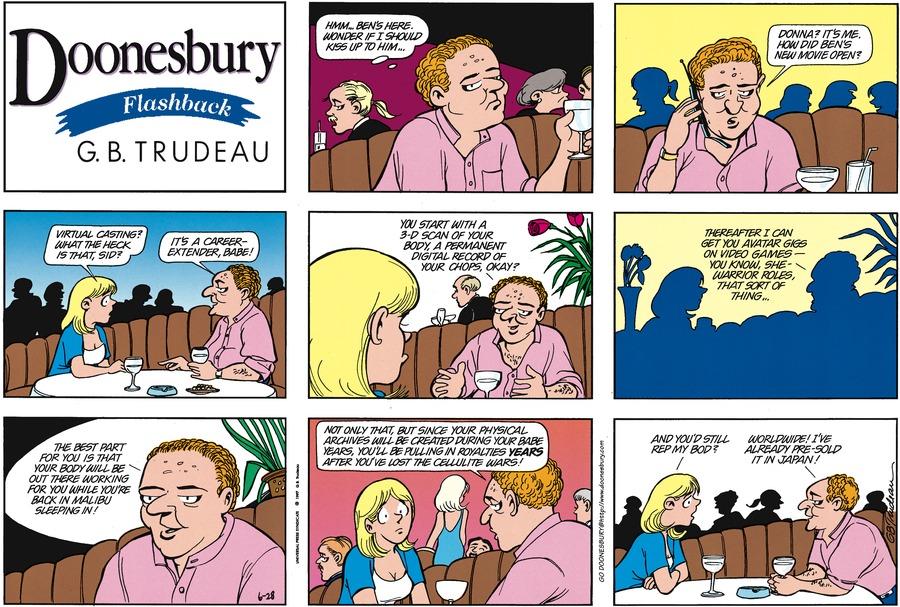 Doonesbury Comic Strip for June 28, 1998