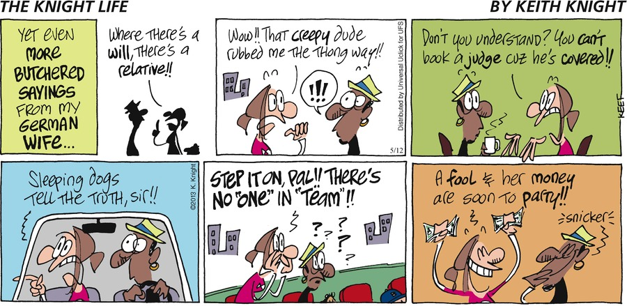 The Knight Life Comic Strip for May 12, 2013