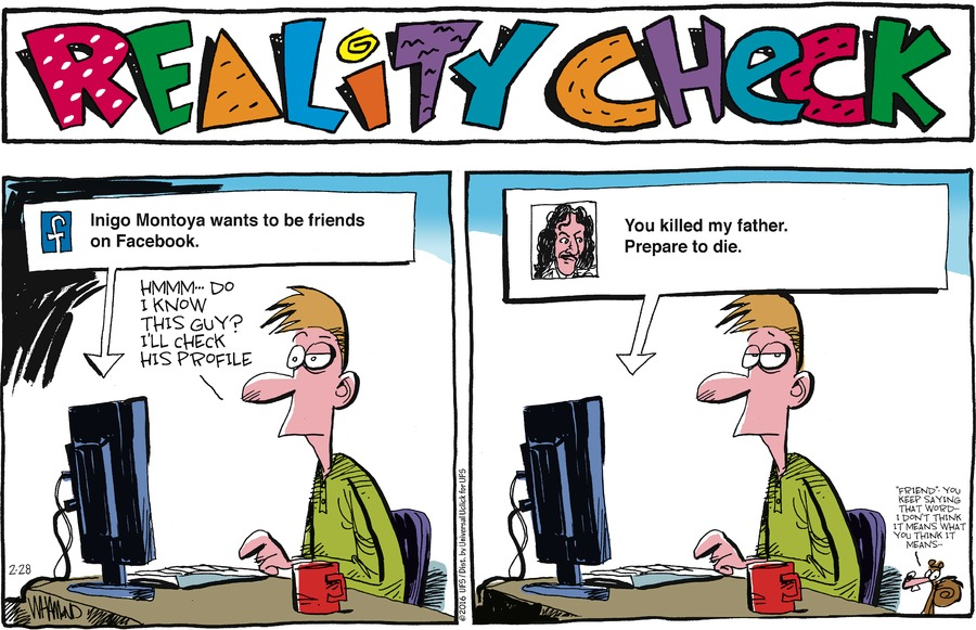 Reality Check Comic Strip for February 28, 2016
