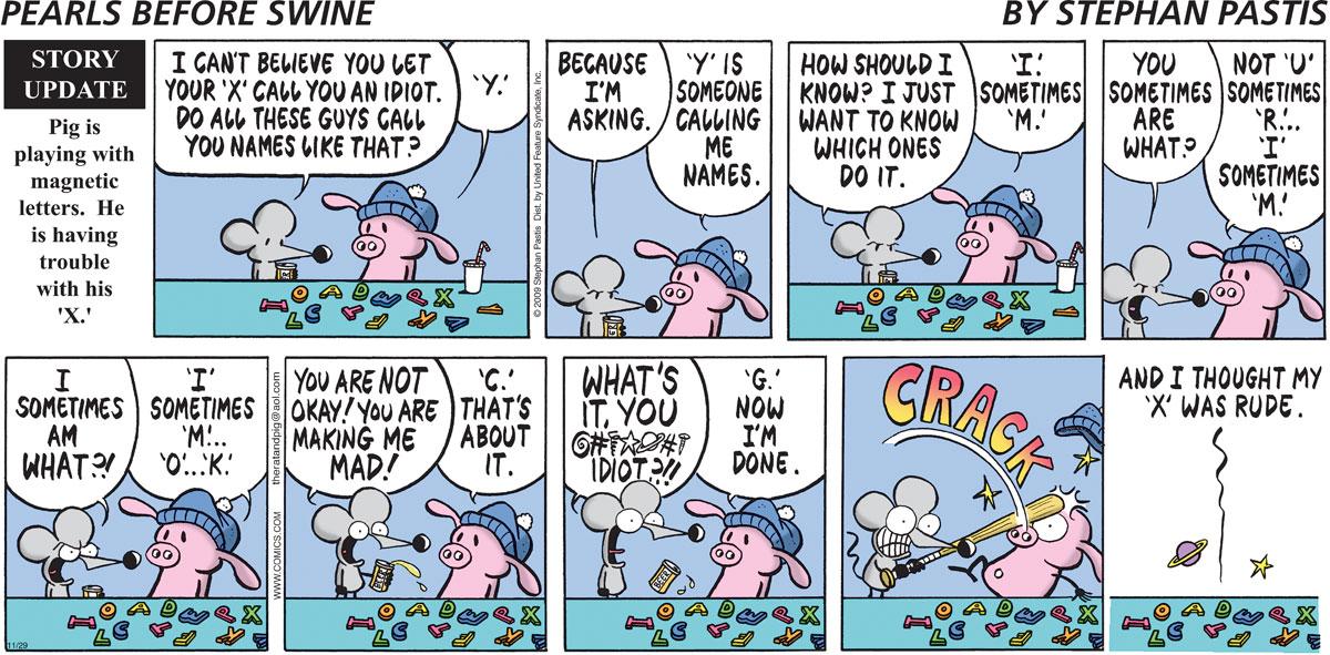 Pearls Before Swine Comic Strip for November 29, 2009
