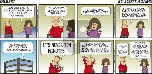 Dilbert on Sunday March 5, 2017 Comic Strip