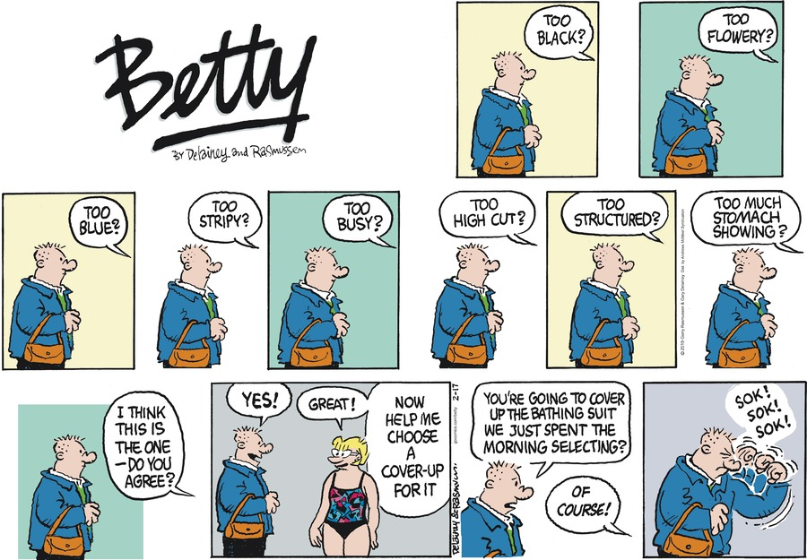 Betty Comic Strip for February 17, 2019