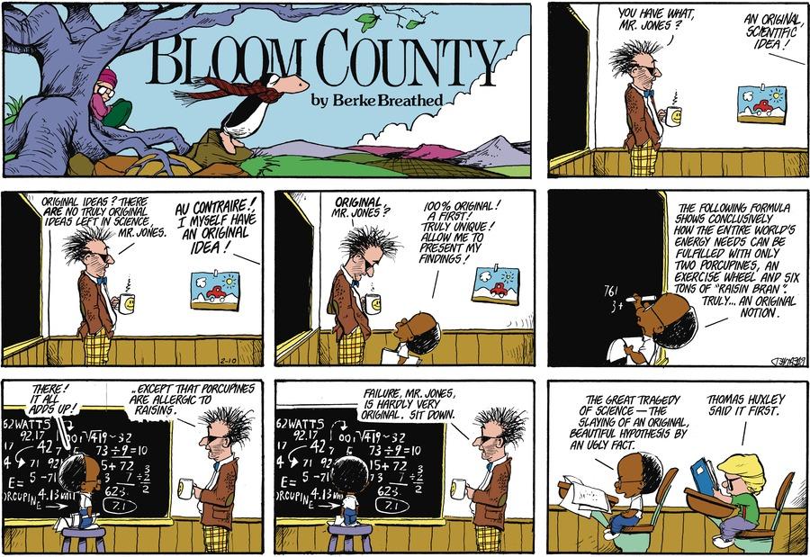 Bloom County for Feb 10, 1985 Comic Strip
