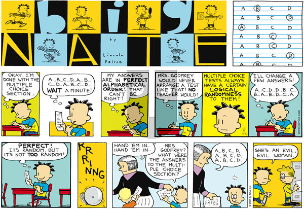 Big Nate on Sunday January 6, 2002 Comic Strip