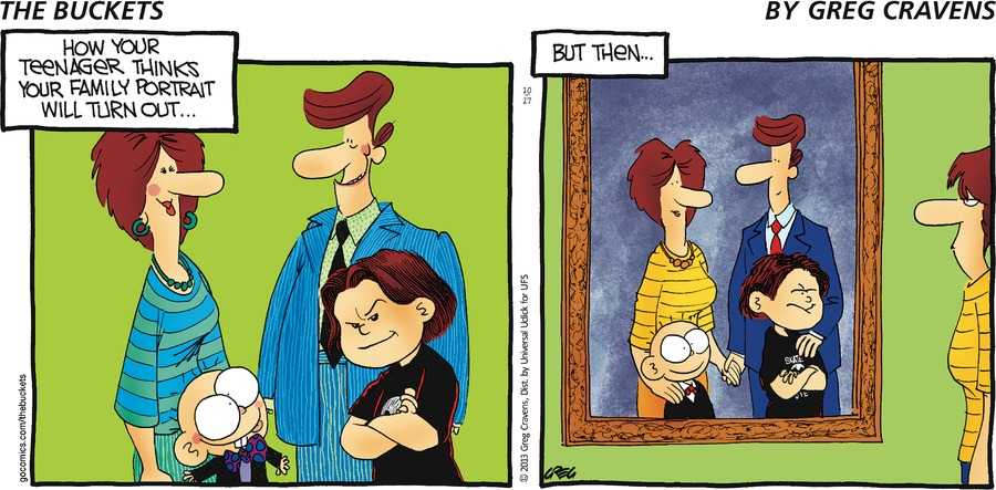 How your teenager thinks your family portrait will turn... But then...