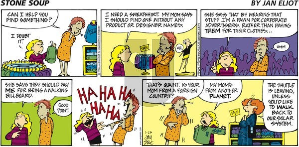 Stone Soup on Sunday January 23, 2000 Comic Strip