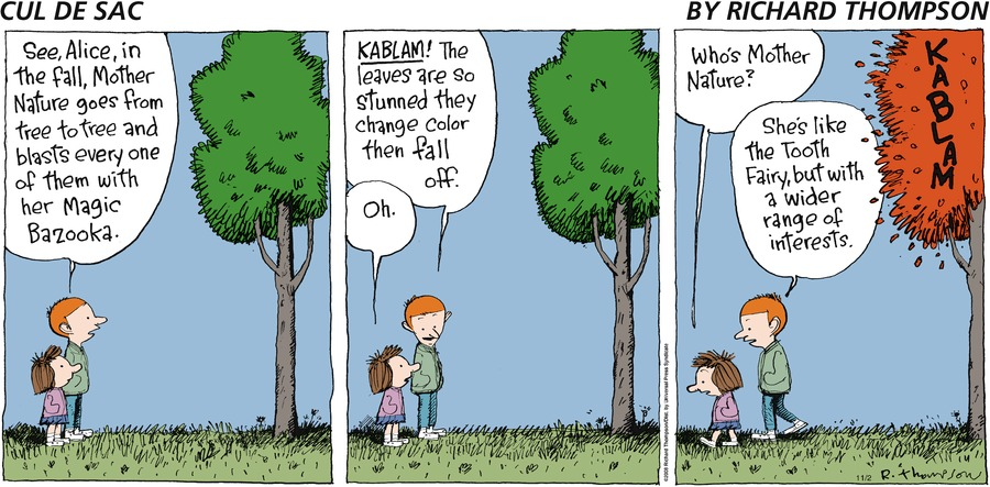 Cul de Sac Comic Strip for November 02, 2008