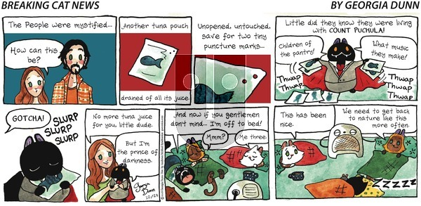 Breaking Cat News on Sunday October 28, 2018 Comic Strip