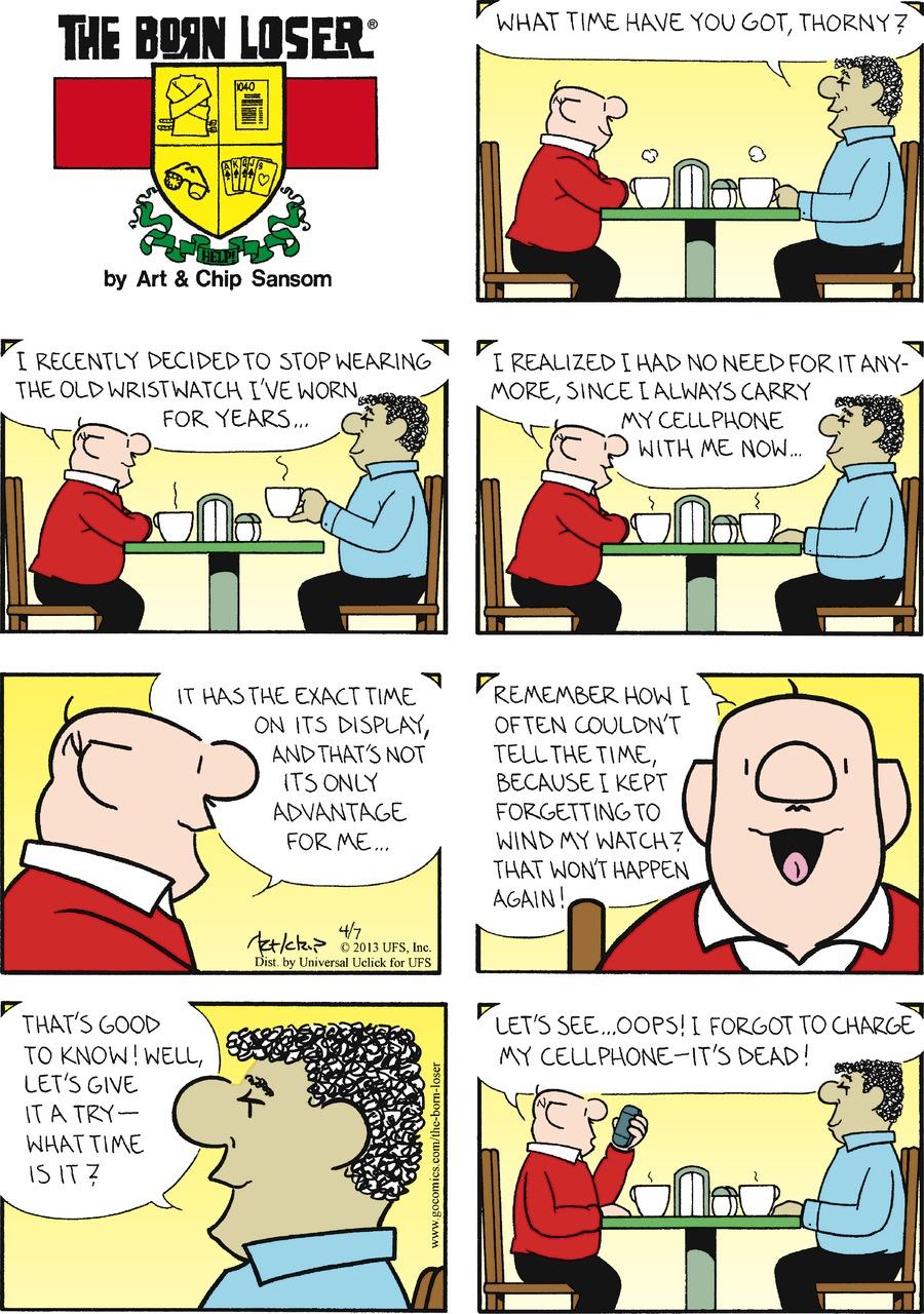 The Born Loser Comic Strip for April 07, 2013