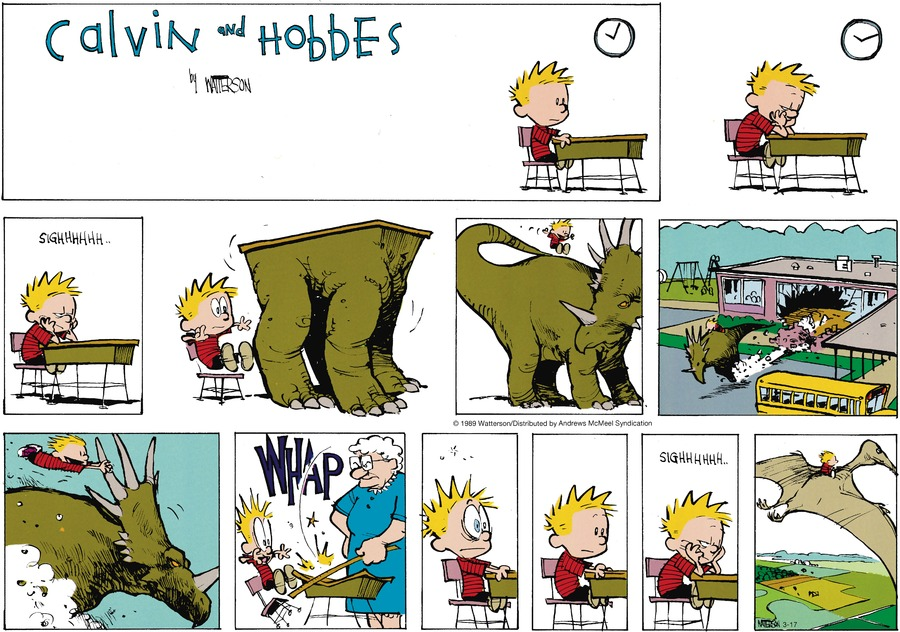 Calvin and Hobbes by Bill Watterson for March 17, 2019