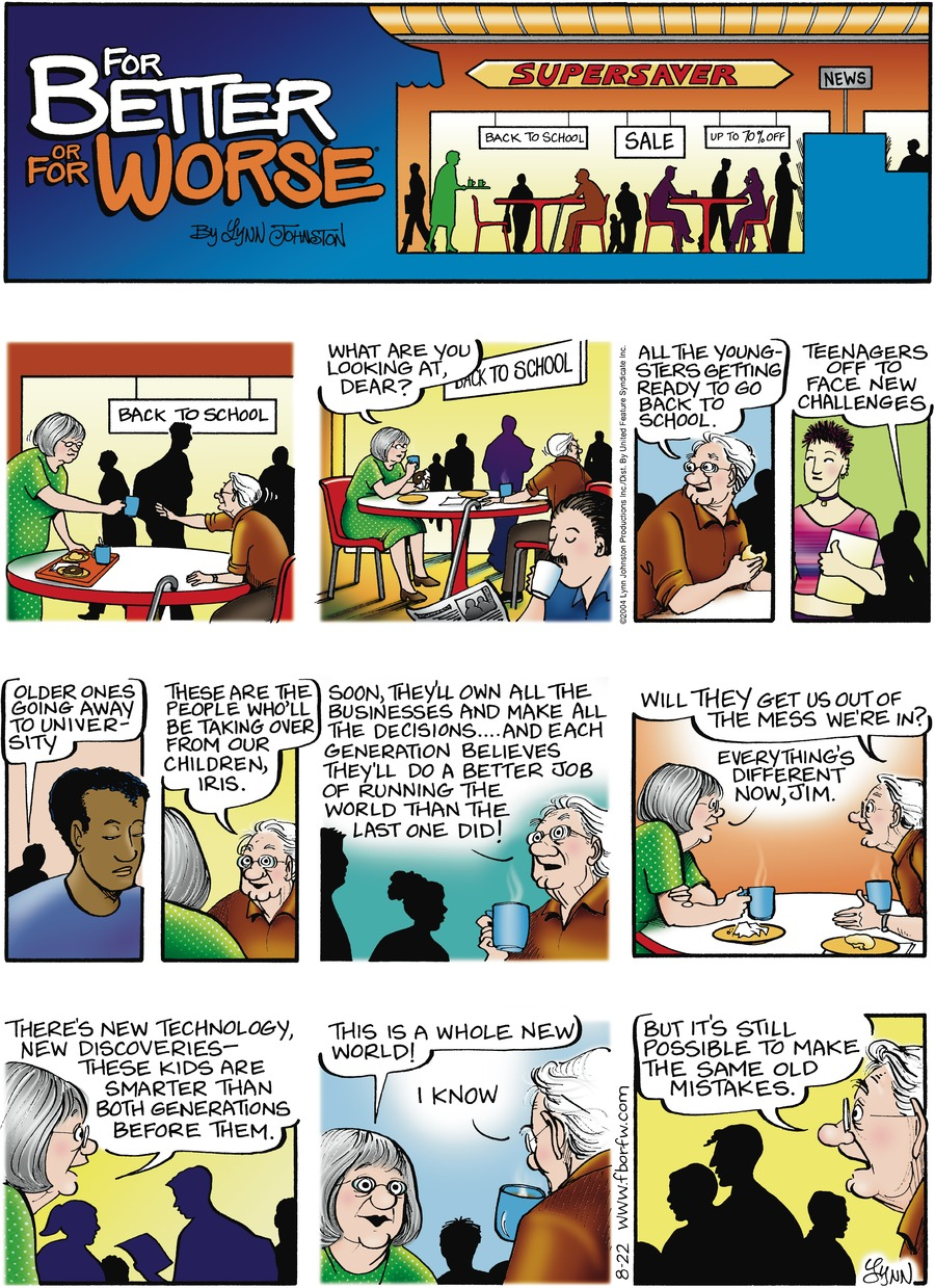 For Better or For Worse for Aug 22, 2004 Comic Strip
