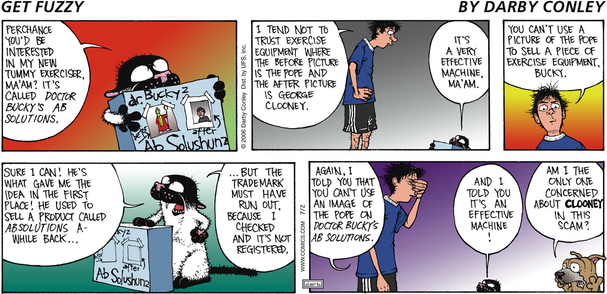 Get Fuzzy Comic Strip for July 02, 2006