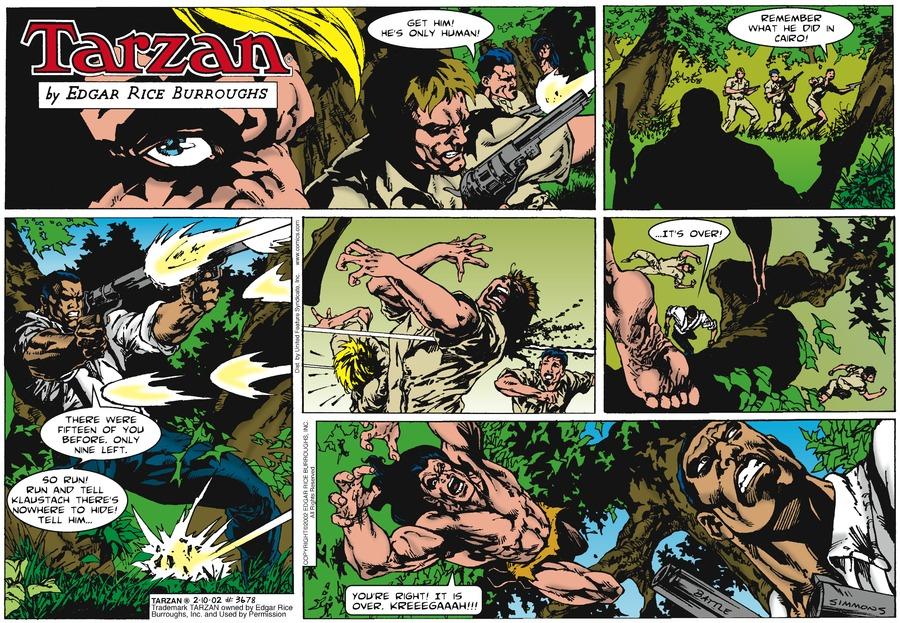 Tarzan Comic Strip for February 10, 2002