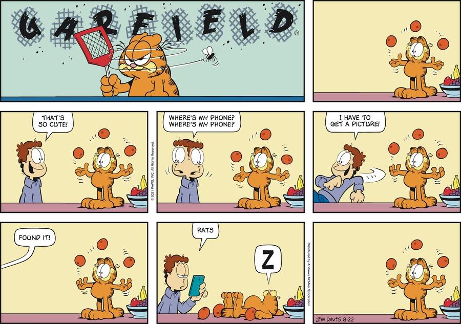Garfield Comic Strip for August 22, 2021