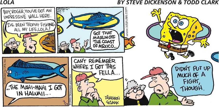 Lola Comic Strip for July 17, 2005