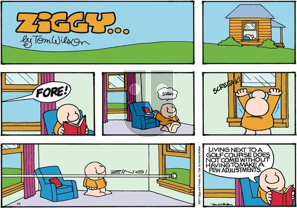 Ziggy on Sunday September 3, 2017 Comic Strip