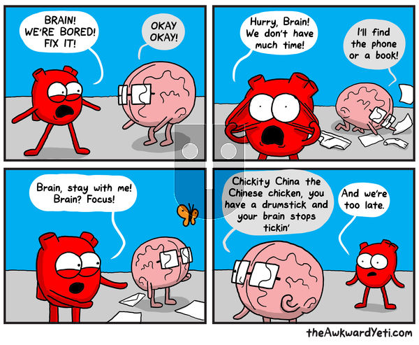 The Awkward Yeti on Tuesday September 3, 2019 Comic Strip