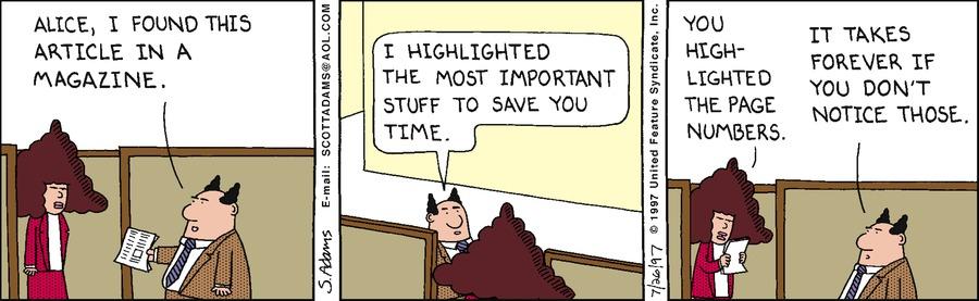 Dilbert Classics Comic Strip for June 27, 2021