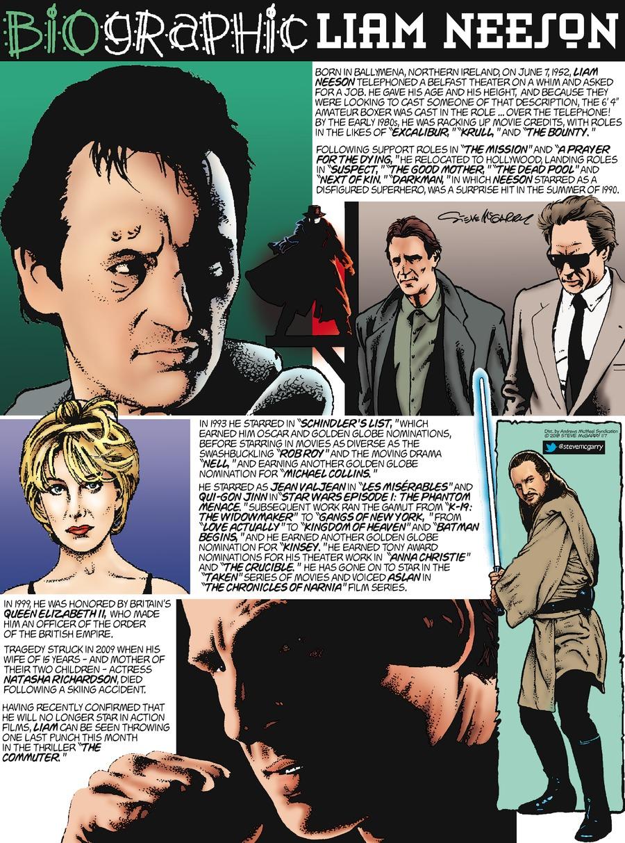 Biographic Comic Strip for January 07, 2018