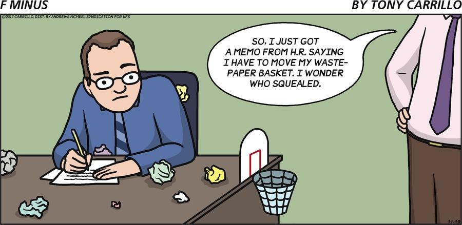 F Minus for Nov 19, 2017 Comic Strip