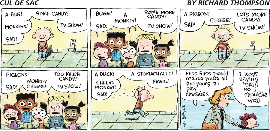 Cul de Sac Comic Strip for November 01, 2009