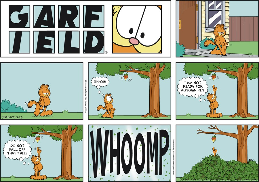Garfield Comic Strip for September 26, 2021
