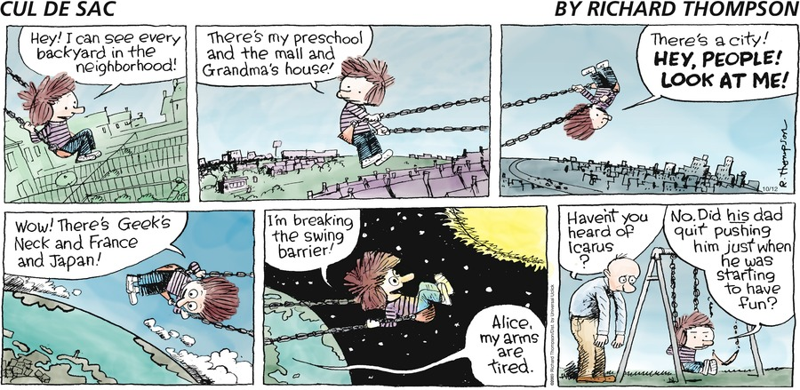 Cul de Sac for Oct 12, 2014 Comic Strip
