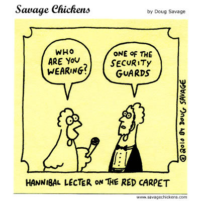 Hannibal Lecter on the Red Carpet: 