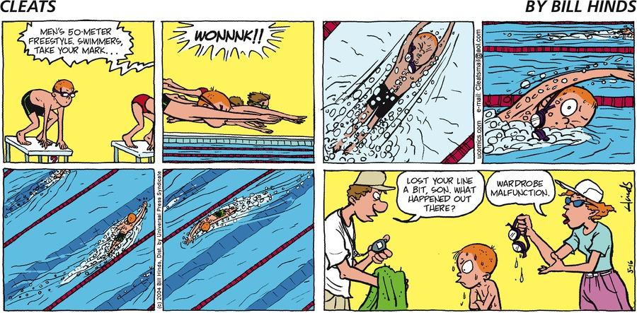 Cleats Comic Strip for May 16, 2004