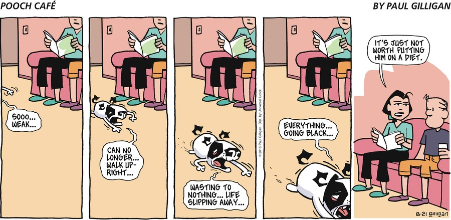 Pooch Cafe Comic Strip for August 21, 2016