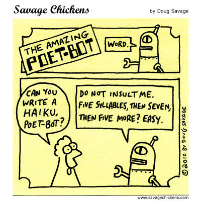 The amazing poet-bot