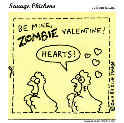 Savage Chickens for Feb 14, 2014 Comic Strip