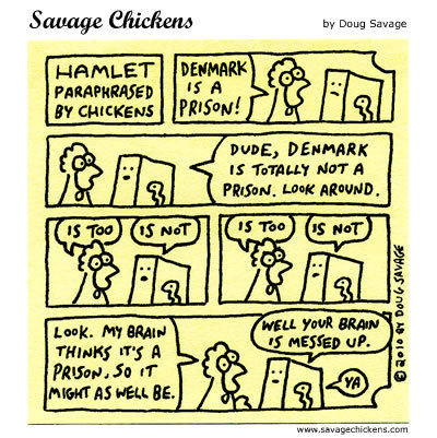 Savage Chickens Comic Strip for February 05, 2014