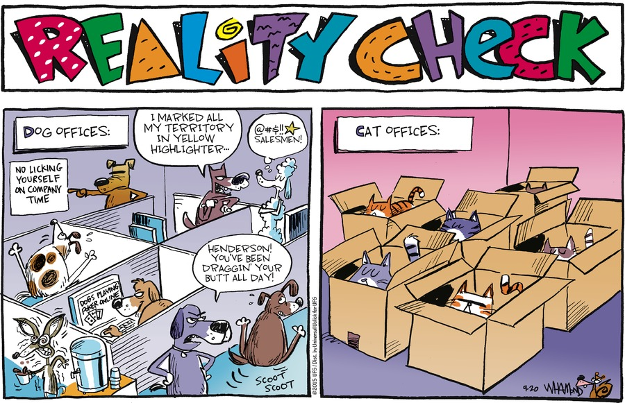Reality Check Comic Strip for September 20, 2015